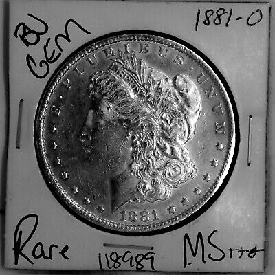 $1.75 • Buy 1881 O GEM Morgan Silver Dollar #118989 BU MS+++ UNC Coin Free Shipping