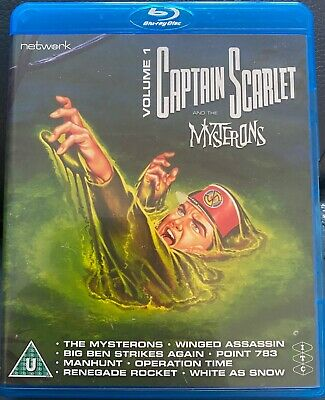 Captain Scarlet Blu Ray Vol 1 8 Episodes New Gerry Anderson Supermarionation Itc • 10.99£