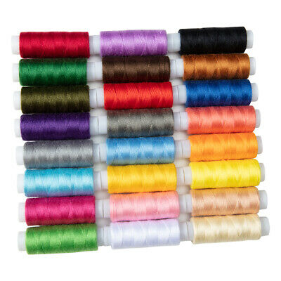 $10.29 • Buy US 24PC Set Polyester Sewing Machine Thread Spool Lot Multi Colors 200 Yard Each