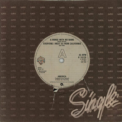 America A Horse With No Name - 3rd UK 7  Vinyl Single Record K16128 • 10.94£
