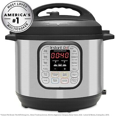 $40 • Buy Instant Pot DUO80 7-in-1 Programmable Electric Pressure Cooker, 8 Qt Never Used!