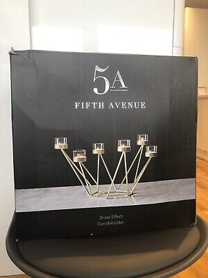 £20 • Buy Fifth Avenue Candle Holder New Brass Effect