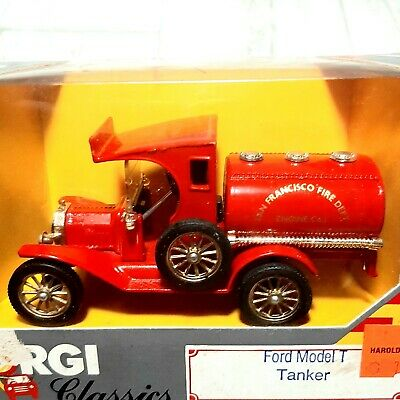 $19.99 • Buy Corgi Classics Ford Model T Tanker Red 1986 NEW In Box San Francisco Fire Dept.