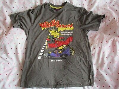 Grey Wacky Races Dick Dastardly Muttley PICTURE T SHIRT Top Mens Size Small  • 19.99£