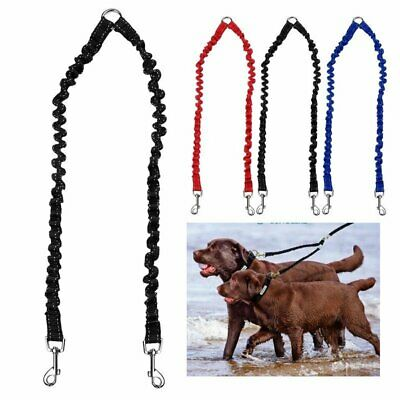 AU15.99 • Buy Double Dog Coupler Twin Lead 2 Way For Two Pet Dogs Walking Leash Safety Chain