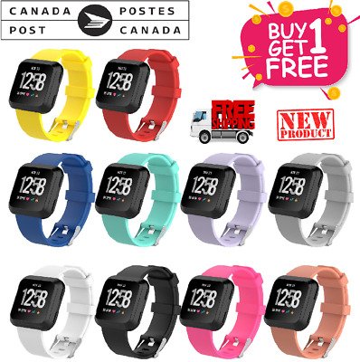 $ CDN11.99 • Buy Replacement Sport Bands Compatible With Fitbit Versa & Lite1/2 Strap Breathable