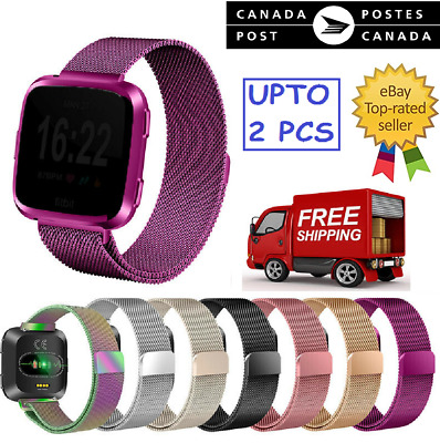 $ CDN9.99 • Buy New Magnetic Milanese Metal Band Stainless Steel Band Strap For Fitbit Versa CA