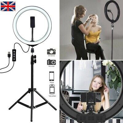 10 Inch LED Ring Light Stand & Mount Kit For Camera Selfie Video Live Stream • 19.65£