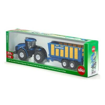 New Holland T9.560 Tractor With Silage Trailer- 1:50 Scale By Siku - 1947 • 24.99£