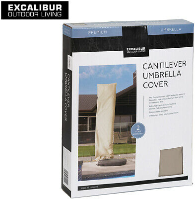 AU65.99 • Buy Outdoor Living Cantilever Umbrella Cover Keep Clean Protected Zip Closure Beige