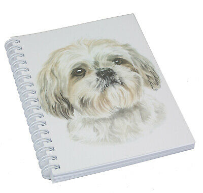 £5.69 • Buy Shih Tzu Illustrated Dog Spiral Bound Notebook 50 Blank Pages Perfect Gift