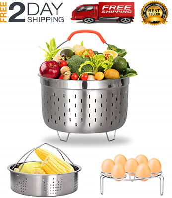 $24 • Buy Stainless Steel Steamer Basket Compatible With Instant Pot Accessories