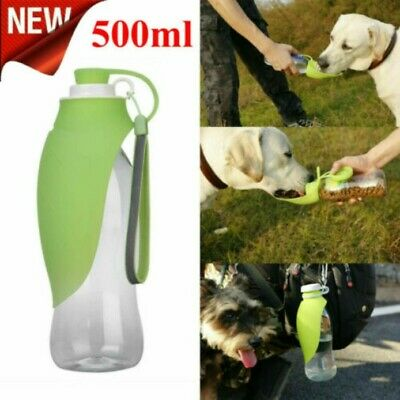 500ml Travel Portable Pet Dog Water Bottle Bowl Drinking Outdoor Dispenser • 10.97£