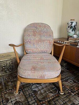 Ercol 203 Windsor Armchair Vintage Mid-Century Model WITH Cushions • 280£