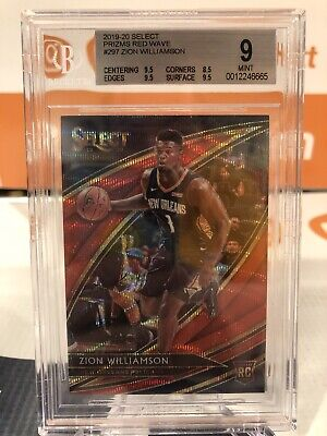 $11.50 • Buy 2019-20 Zion Williamson Select Red Wave Prizm Graded 9 Mint RC #297 Pelicans