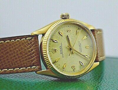 $ CDN5298.54 • Buy Rolex Oyster Perpetual Ref 6567 Swiss Vintage 18k Gold With Box Fully Serviced