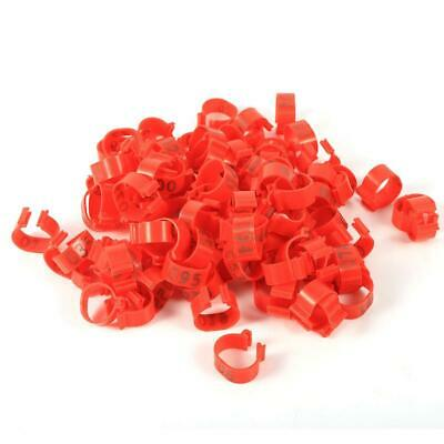 100X16mm Clip On Leg Band Rings For Chickens Ducks Hens Numbered Plastic Poultry • 1.42£