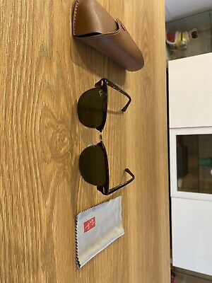 AU50 • Buy Ray Ban Clubmaster RB3016 Classic Tortoise Sunglasses