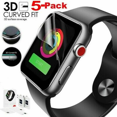 $ CDN2.98 • Buy 3D Full Cover Hydrogel Screen Protector Film Soft For Apple Watch Series 5/4/3/2