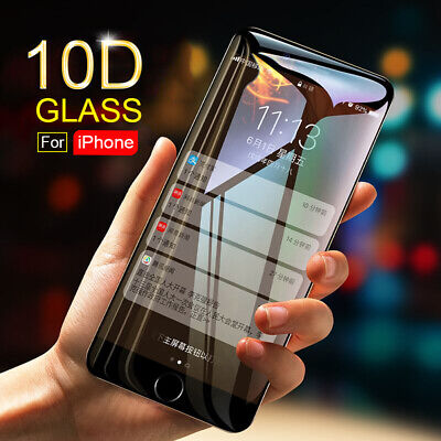 For IPhone XR XS XS MAX Screen Protector 10D Curved FULL COVER TEMPERED GLASS UK • 4.99£