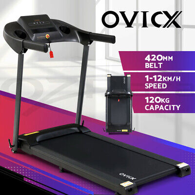 AU399.95 • Buy OVICX Treadmill Electric Home Gym Exercise Machine Fitness Equipment Compact
