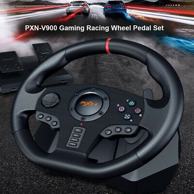 $158.95 • Buy Steering Wheel And Pedal Set Racing Gaming Simulator Driving For Xbox One PC