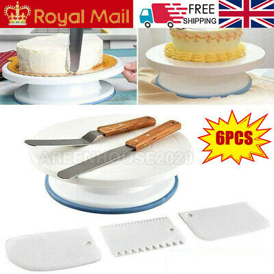 UK Kitchen Cake Decorating Icing Rotating Revolving Turntable Display Stand 6X • 8.99£