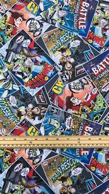 £5.25 • Buy Fat Quarter Toy Story Comic Books 100% Cotton Quilting Fabric