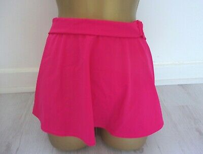 Pink  A Line Skirted  Bikini  Bottoms    With Attatched Brief - Size 10 - New  • 10£