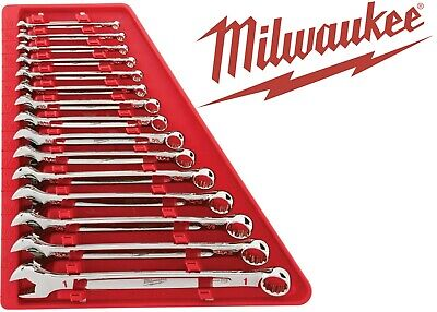 $ CDN157.70 • Buy Milwaukee Tools 48-22-9415 15 Piece Combination Wrench Set SAE New Free Shipping