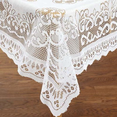 $19.17 • Buy Lace Tablecloth Rectangle Ideal For Formal Dinner Parties Easy Care 54  X 72