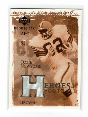 $3.99 • Buy 2001 Upper Deck Rookie F/X Heroes Of Football Ozzie Newsome Jersey Card NR-MT