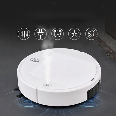 Robotic Vacuum Cleaner Mop Automatic USB Charging 5-in-1 UV Light Anti-Collision • 29.26£