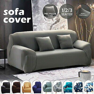 AU18.99 • Buy 1/2/3 Seater Sofa Covers Lounge Slipcover Stretch Protector Recliner Couch Chair