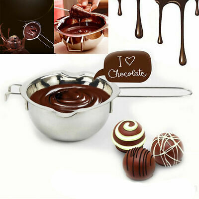 Melting Pot Pan Chocolate Cheese Caramel Butter Wax Melting Stainless Steel UK • 6.54£