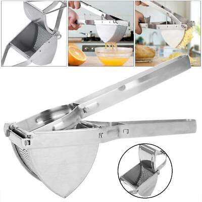 Heavy Duty Potato Masher Ricer Stainless Steel Fruit Vegetable Press Squeeze Diy • 7.99£