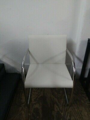 Second Hand Leather Meeting Chair - Ivory  • 96£
