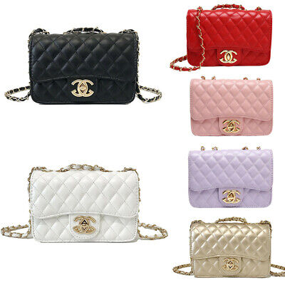 Womens Chain Quilted Handbag Luxury Leather Cross Body Tote Shoulder Bag Outdoor • 16.99£