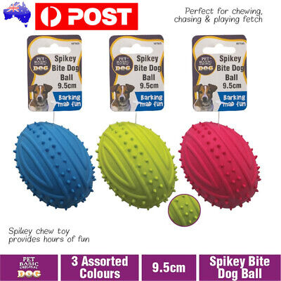 AU9.76 • Buy Puppy Toys Dog Toy Rubber Ball Tooth Teething Chew Training Balls Gum Bite Clean