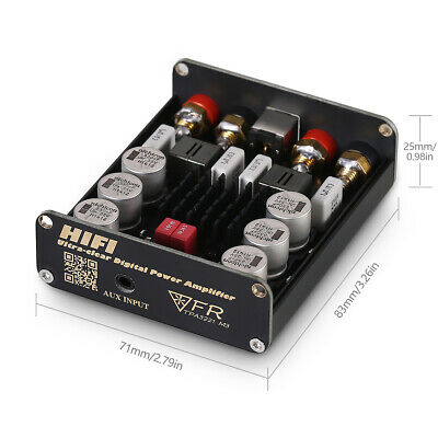 AU66.49 • Buy Mini HiFi Digital Power Amplifier Class D 2.0 Channel Home Stereo Audio Amp 100W