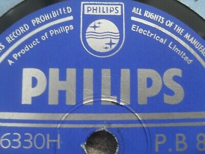 COLLECTION OF 1950s PHILIPS 78RPM SHELLAC RECORDS CHOOSE ONE FROM LIST  • 4.99£