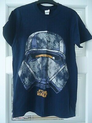 Mens *star Wars* Navy Blue T-shirt Top Size Small Vgc Range Trooper Print Tee  • 2.99£