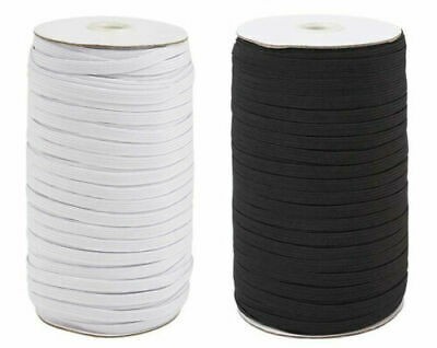 $ CDN6.48 • Buy 200 Yards 6mm 1/4  White Satin Elastic Cord Spandex Band Sewing Trim Braided DIY