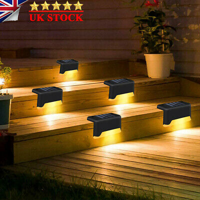 4/8pcs LED Solar Powered Fence Wall Lights Garden Lamp Step Path Decking Outdoor • 8.69£