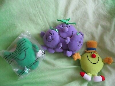 Mr Men Set Little Miss Naughty Mr Funny Nosy In Packet FIGUREs TV Plush Soft TOY • 14.99£