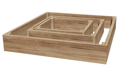 Treated Wooden Raised Bed Vegetable Flower Garden Planter (600 X 600 X 150mm) • 14£