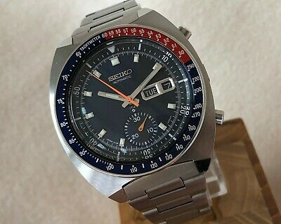 $ CDN1608.96 • Buy Near To Mint Vintage Seiko Pepsi Pogue Navy Dial Automatic Chronograph 6139-6002