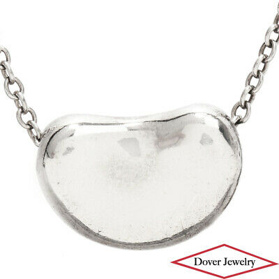 $13.50 • Buy Tiffany & Co. Elsa Peretti Sterling Silver 'Bean' Pendant Chain Necklace NR