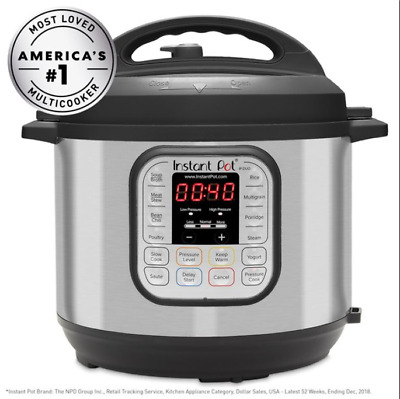 $94.99 • Buy InstantPot DUO80 8Qtz 7-in-1 Multi-Use Pressure Slow Cooker - Silver