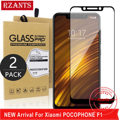 AU4.30 • Buy 2X For Xiaomi Pocophone F1 Tempered Glass Screen Protector Film Full Cover